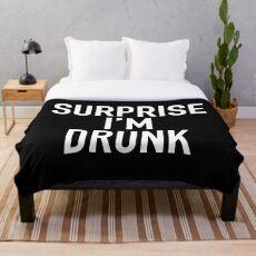 Überraschung, ich bin betrunken! Fleecedecke