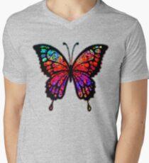 Psychedelic Butterfly Men's V-Neck T-Shirt