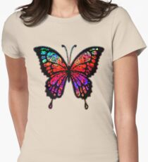 Psychedelic Butterfly Women's Fitted T-Shirt