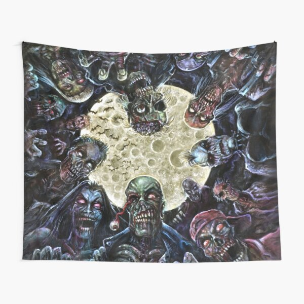 Zombies Attack (Zombie horde) Tapestry