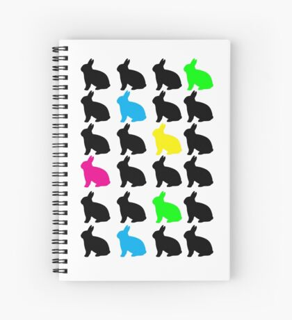 Colorful Bunnies Spiral Notebook