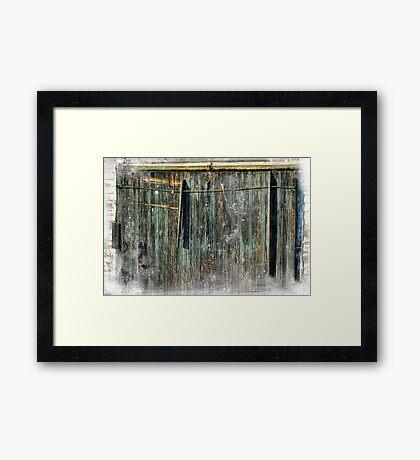 The Weathered Barn Door Framed Print