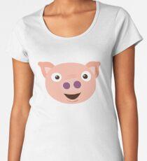 Piggy Face Premium Scoop T-Shirt