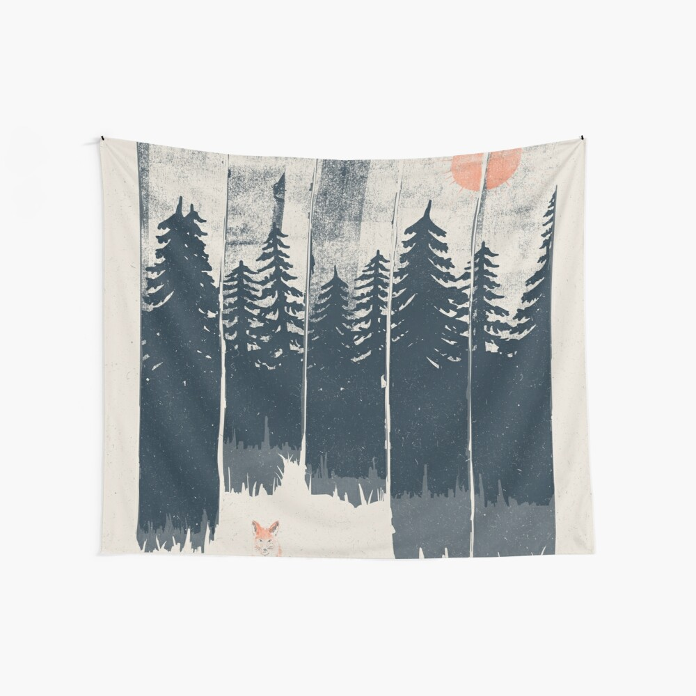 A Fox in the Wild... Wall Tapestry