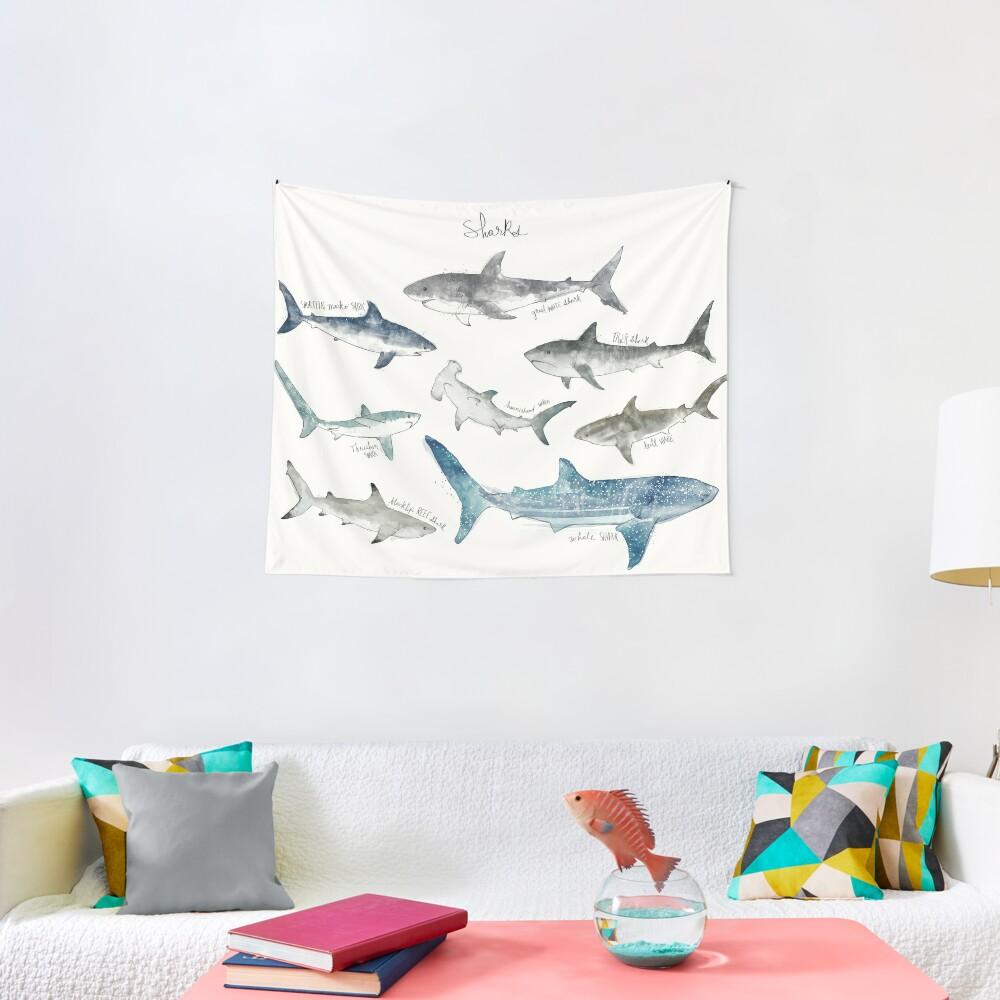 Sharks - Landscape Format Tapestry
