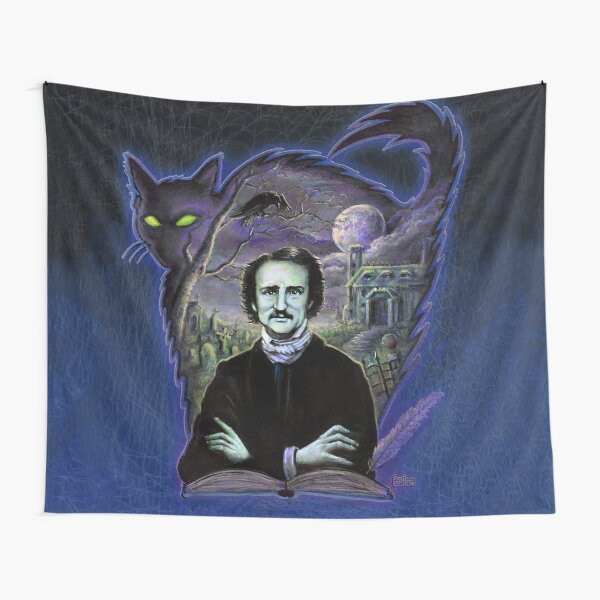 Edgar Allan Poe Gothic Tapestry