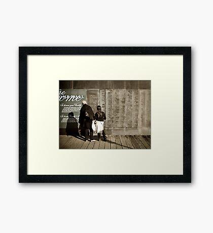 Welcome Wall Framed Print