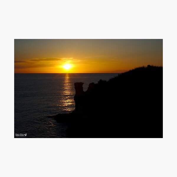 Salento and Albania watching sunrise Photographic Print