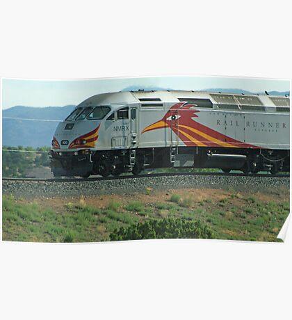 New Mexico's Rail Runner Poster