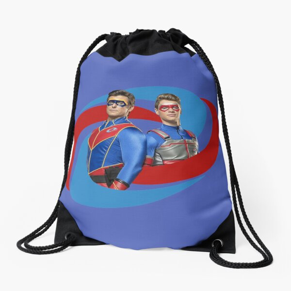 Captain Man and Kid Danger - Logo Drawstring Bag