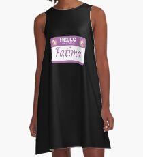 Unicorn Hello My Name Is Fatima - Gift For Someone Called Fatima A-Line Dress