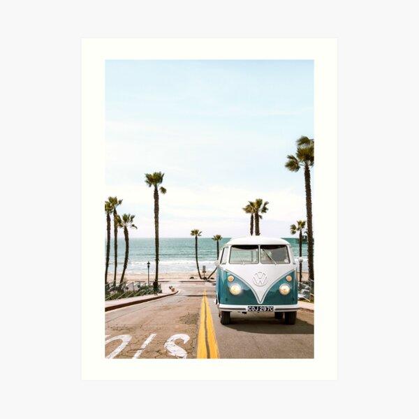 OCEAN SIDE CALIFORNIA Art Print