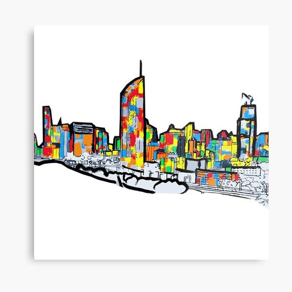 Bright Brisbane City Skyline  Metal Print