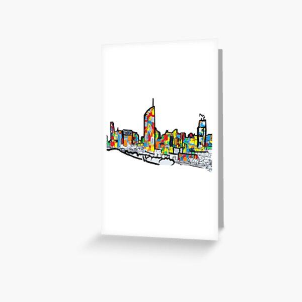 Bright Brisbane City Skyline  Greeting Card