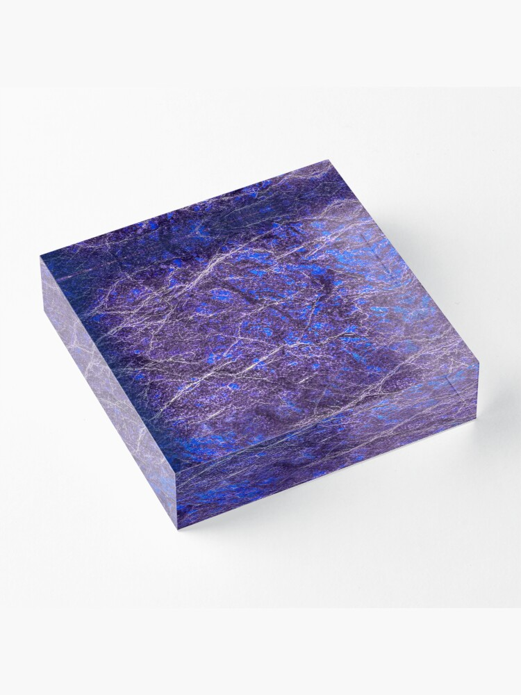 Alternate view of Violet blue marble color fancy Acrylic Block