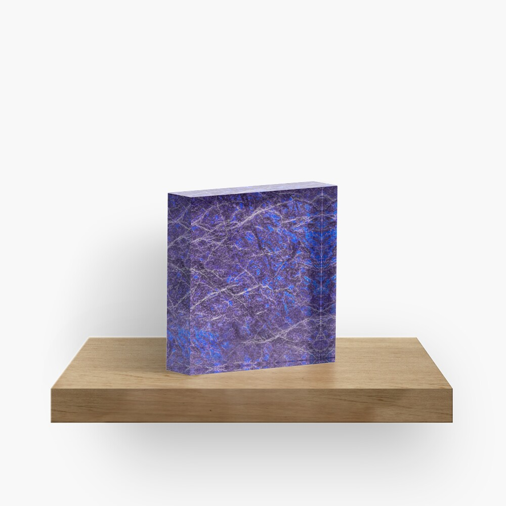 Violet blue marble color fancy Acrylic Block