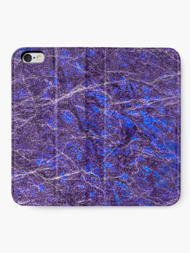 Alternate view of Violet blue marble color fancy iPhone Wallet
