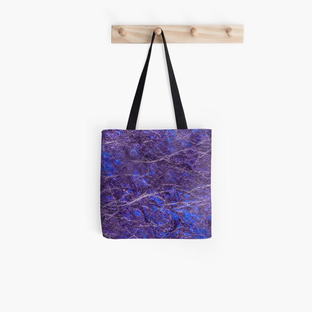 Violet blue marble color fancy Tote Bag