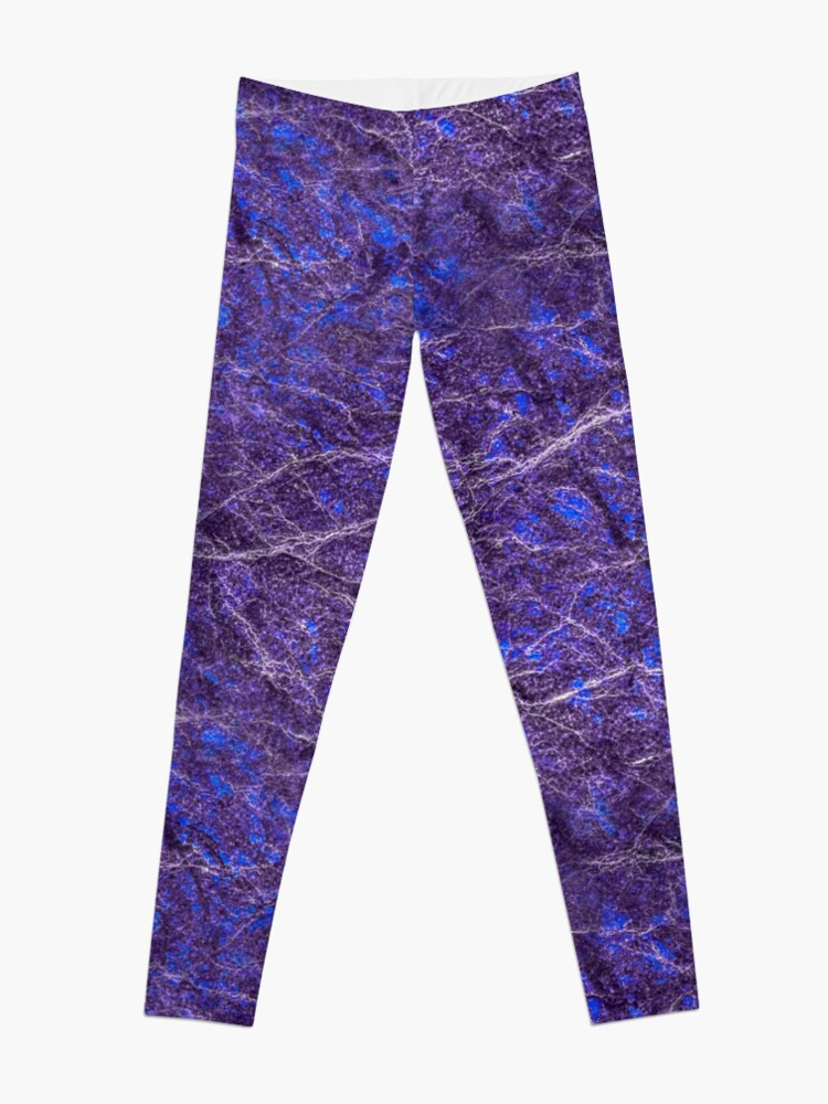 Alternate view of Violet blue marble color fancy Leggings