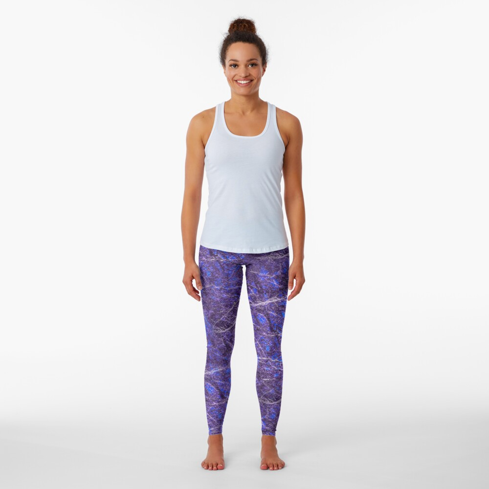 Violet blue marble color fancy Leggings