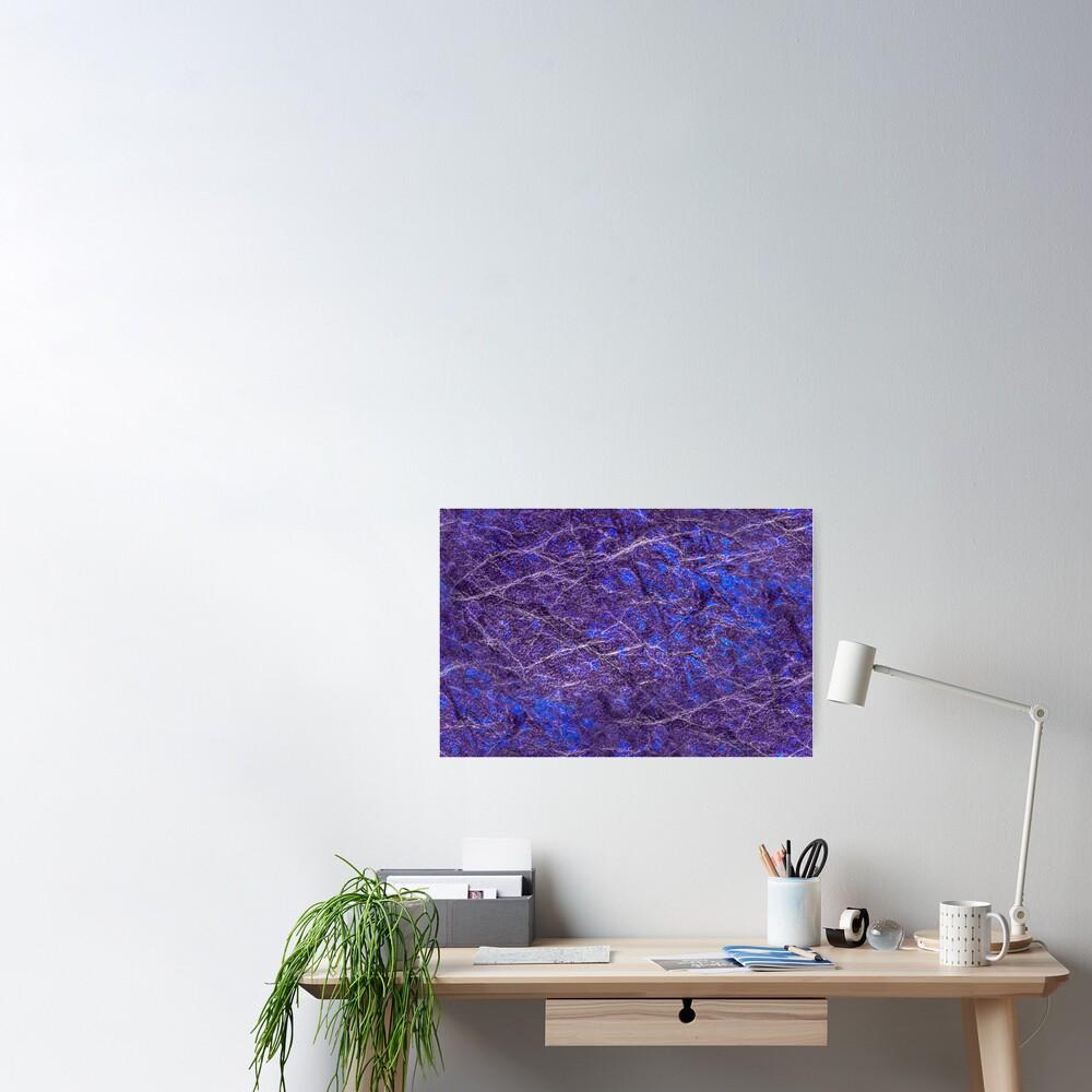 Violet blue marble color fancy Poster
