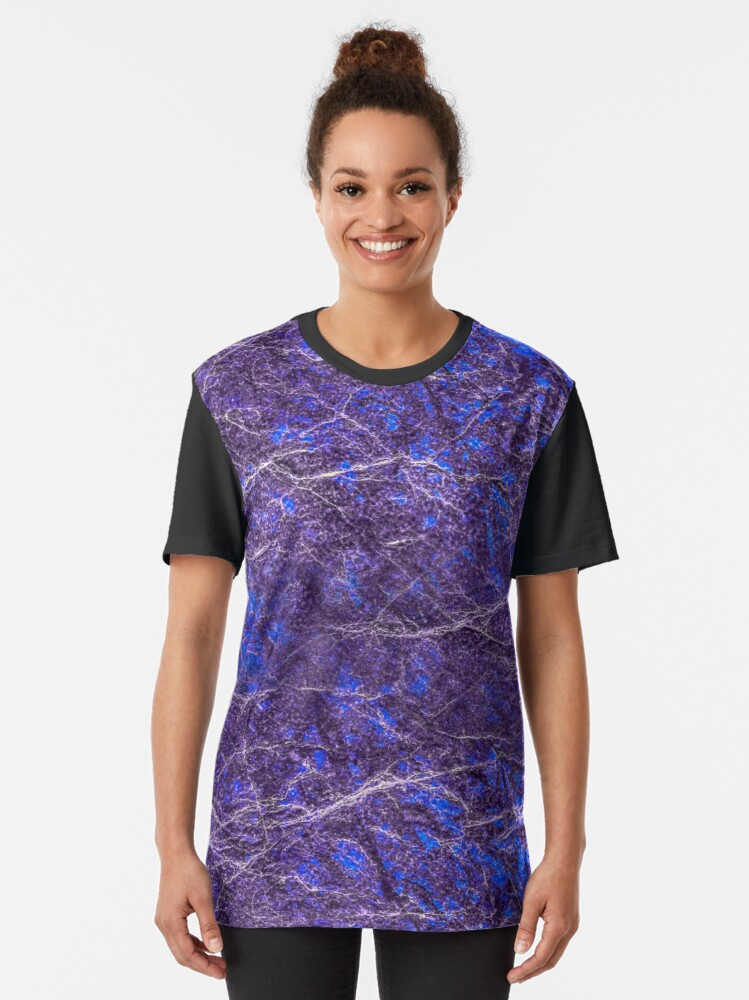 Alternate view of Violet blue marble color fancy Graphic T-Shirt