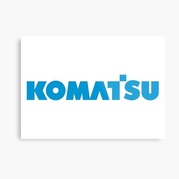 Komatsu Merchandise Metal Print