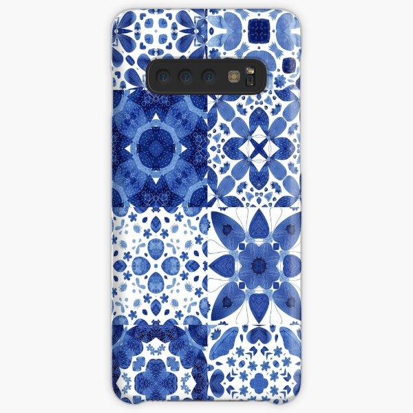 Indigo Watercolor Tiles Samsung Galaxy Snap Case