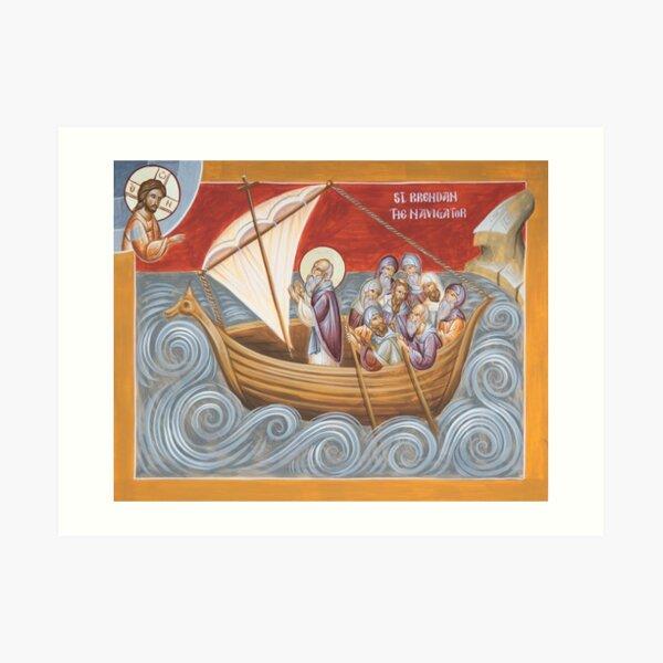 St Brendan the Navigator Art Print