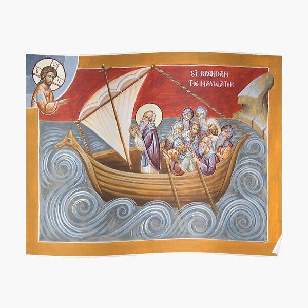 St Brendan the Navigator Poster