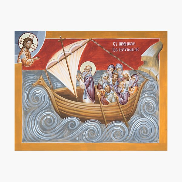 St Brendan the Navigator Photographic Print