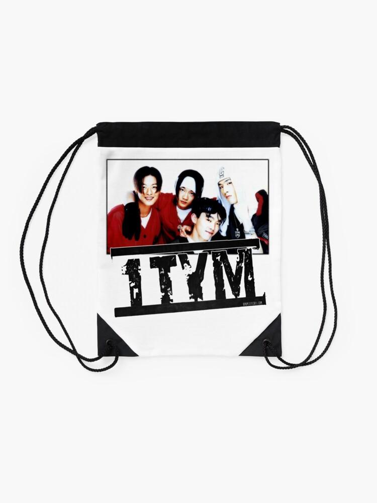 Alternate view of 1tym smiles 원타임 90s kpop Drawstring Bag