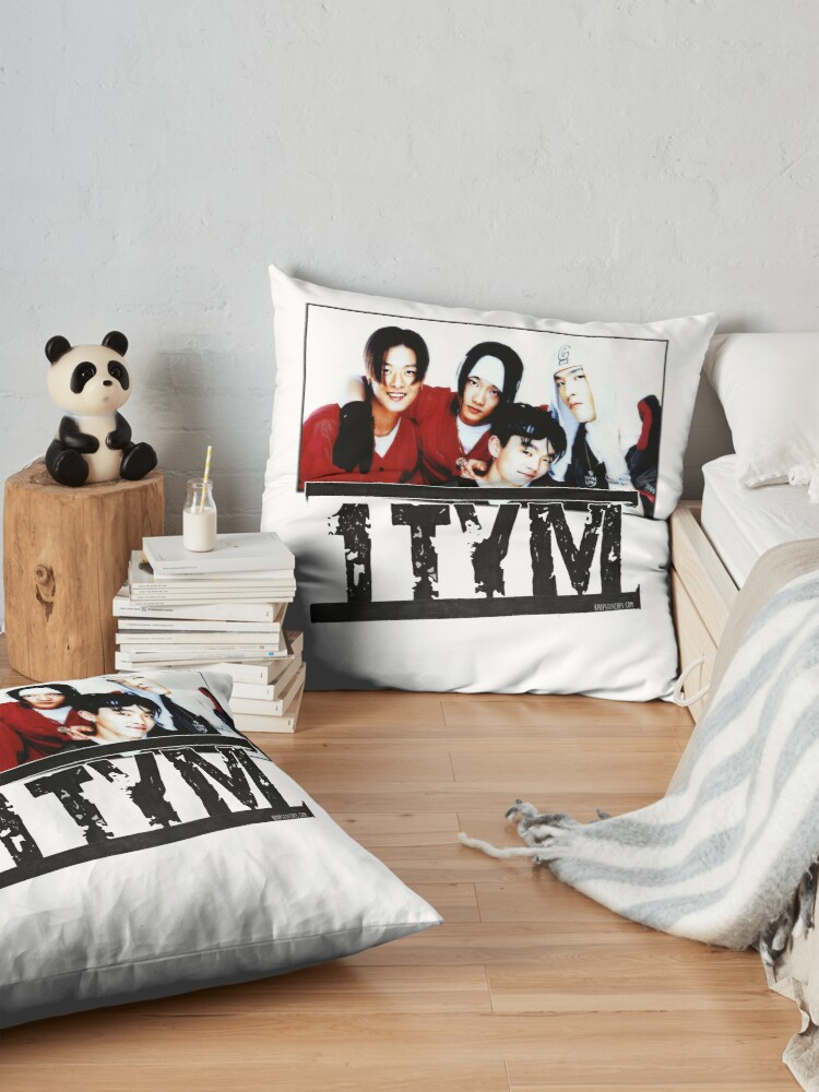 Alternate view of 1tym smiles 원타임 90s kpop Floor Pillow