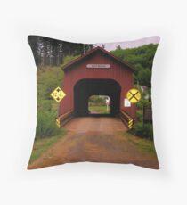 CHITWOOD BRIDGE OREGON Throw Pillow