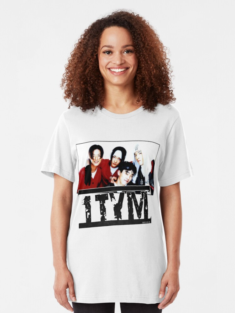 Alternate view of 1tym smiles 원타임 90s kpop Slim Fit T-Shirt