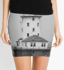 Chicago-The Lighthouse at the End of the World (black and white) Mini Skirt