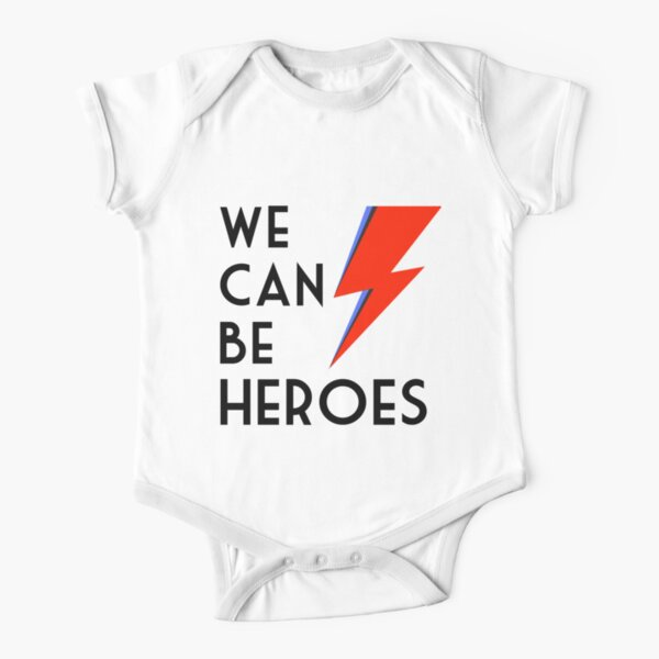 We can be heroes Short Sleeve Baby One-Piece