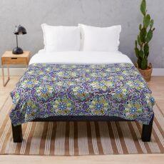 Mandala Style Abstract Art  Throw Blanket
