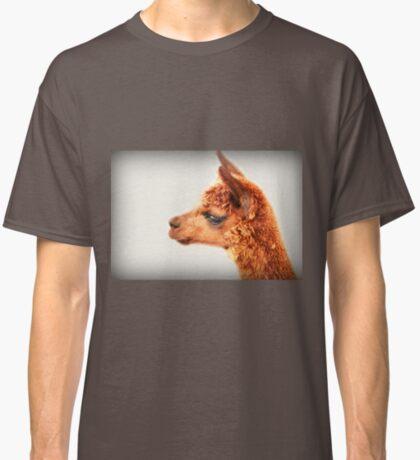 Ein Alpaka-Porträt Classic T-Shirt
