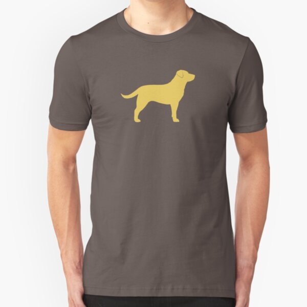 Yellow Labrador Retriever Dog Silhouette(s) Slim Fit T-Shirt