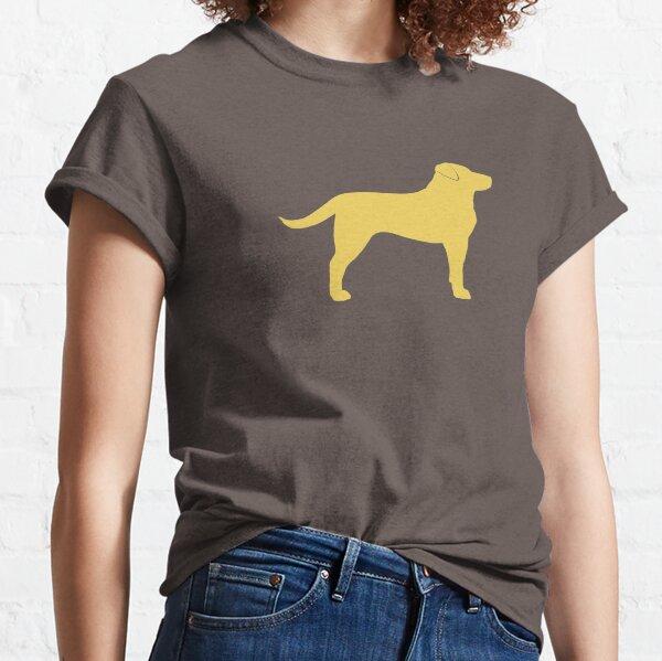 Yellow Labrador Retriever Dog Silhouette(s) Classic T-Shirt