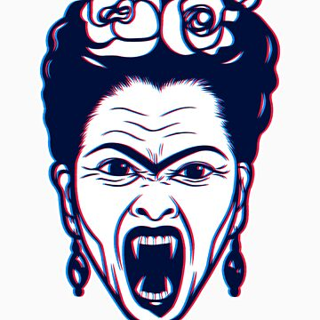 Frida Kahlo Vampire in 3D by trippitako