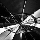 Monocrome Rainbow Umbrella by Bob Larson