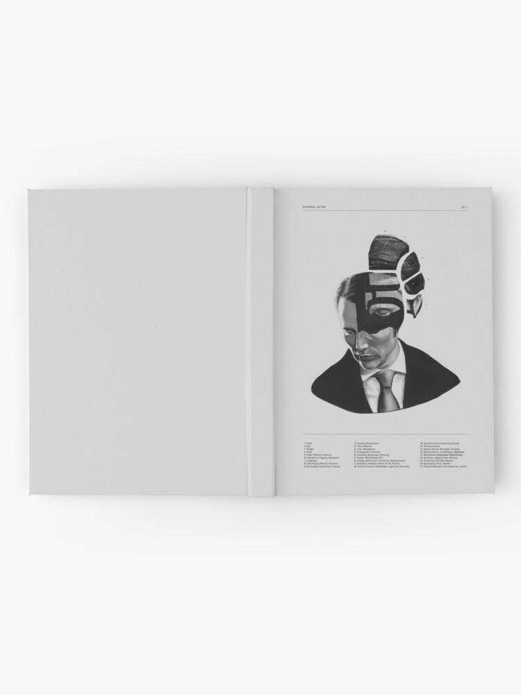Alternate view of Hannibal Lecter Phrenology Hardcover Journal