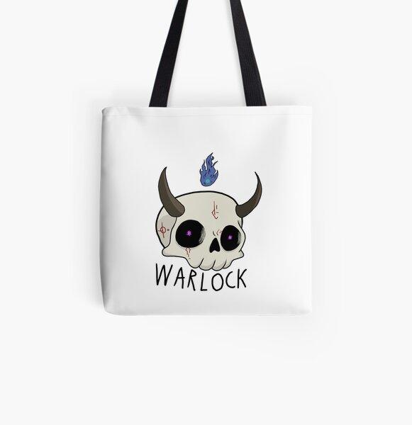 Warlock Skull D&D Class All Over Print Tote Bag