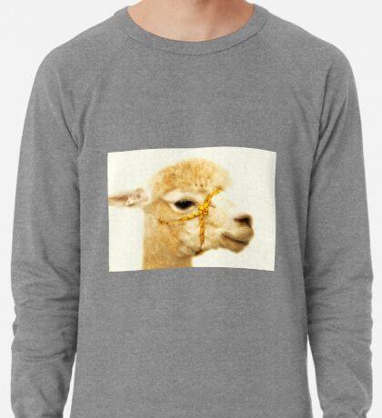 Porträt eines Alpakas Leichtes Sweatshirt