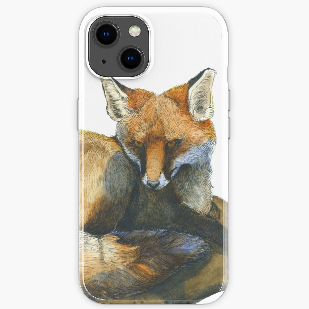Fox in Ink and Watercolour iPhone Case