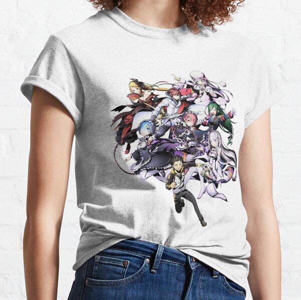 Re: Zéro Personnage Mashup Anime Re-Zero T-shirt classique