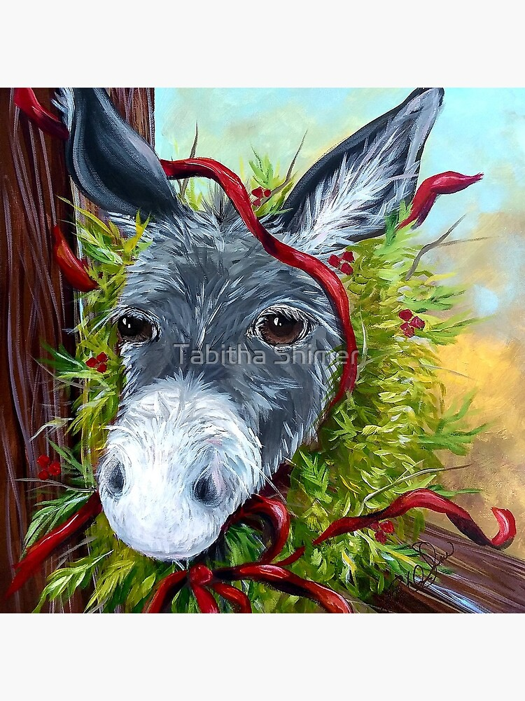 Christmas Donkey by Thepoorpainter