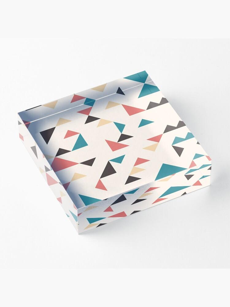 Alternate view of Terrazzo Triangles Acrylic Block